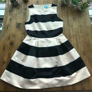 CeCe | Black and Cream Dress